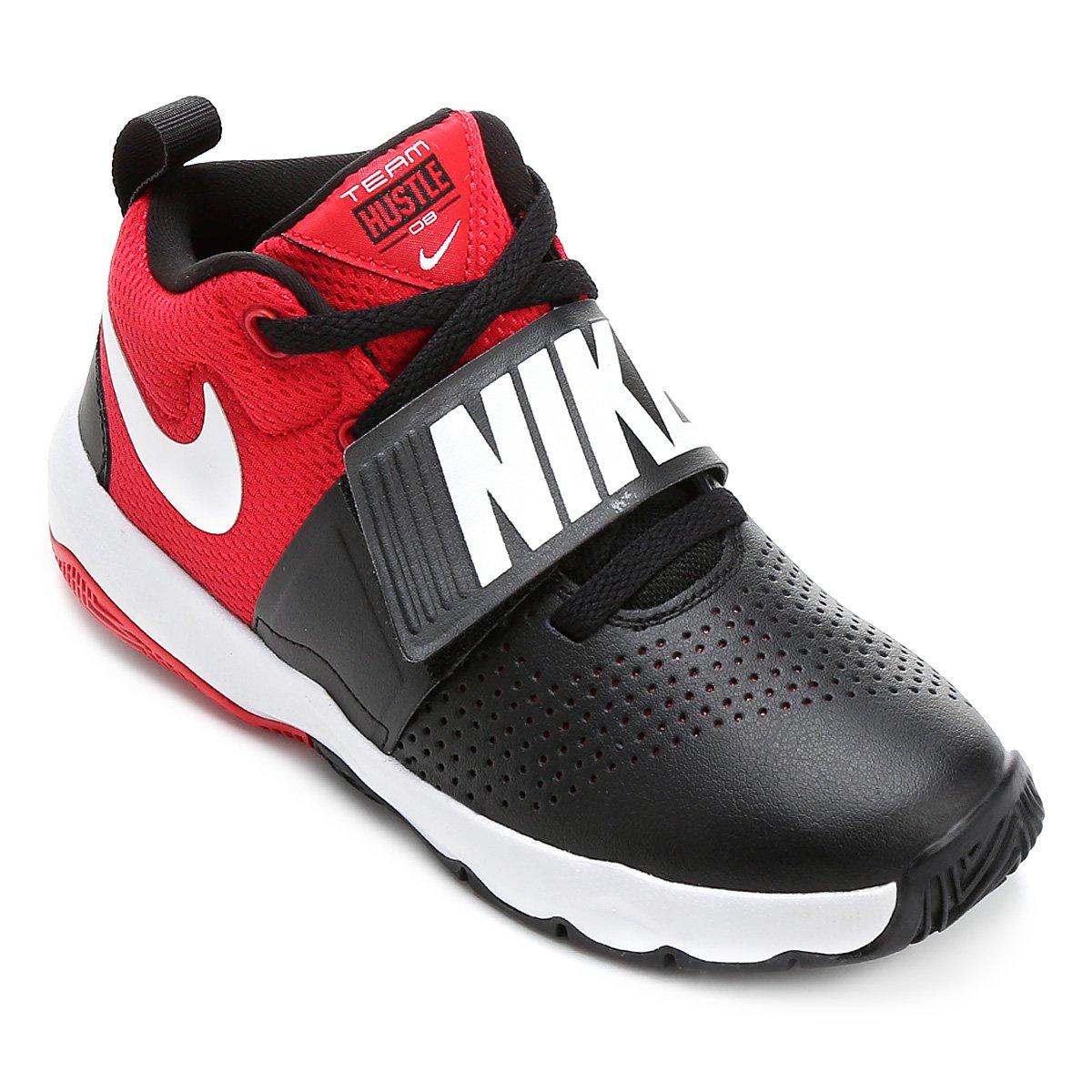 cec8961ab1d Tênis Infantil Nike Team Hustle D8 Masculino - Preto e Vermelho - Compre  Agora