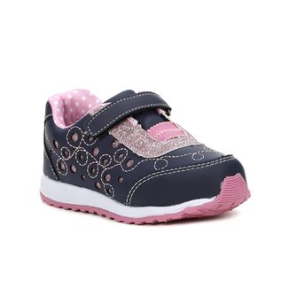 Tênis Infantil Para Bebê Menina - Azul/rosa