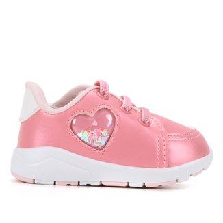 Tênis Infantil Pimpolho Coração Feminino