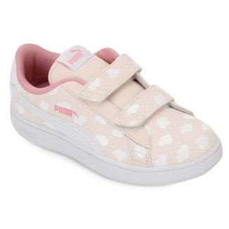 Tênis Infantil Puma Smash V2 Cloud V 'PS Feminina
