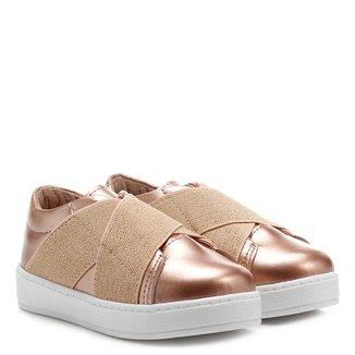Tênis Infantil Shoestock Metalizado Feminino