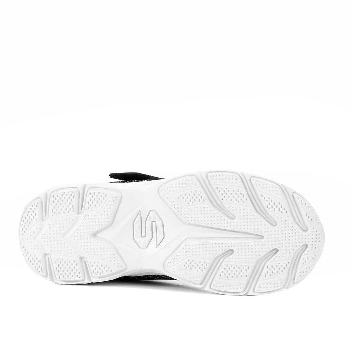 Tênis Infantil Skechers Eclipsor Velcro Preto e Branco