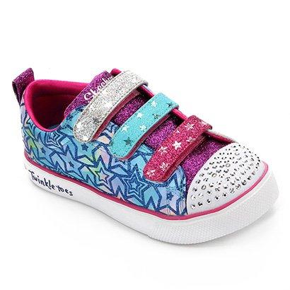 Tênis Infantil Skechers Twinkle Breeze 2.0 Sparkle Du Feminino