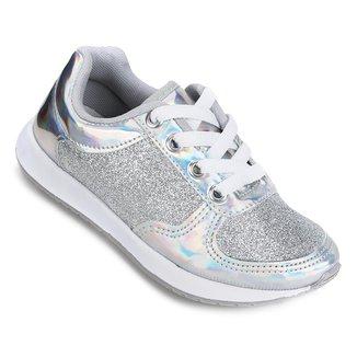 Tênis Infantil Via Vip Jogging Glitter Feminino