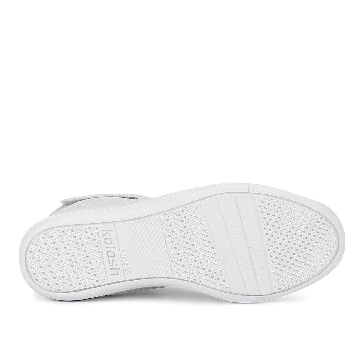 Tênis Branco Feminino Kolosh Cano Cano Alto Tênis Velcro Kolosh BpUPBrqnw