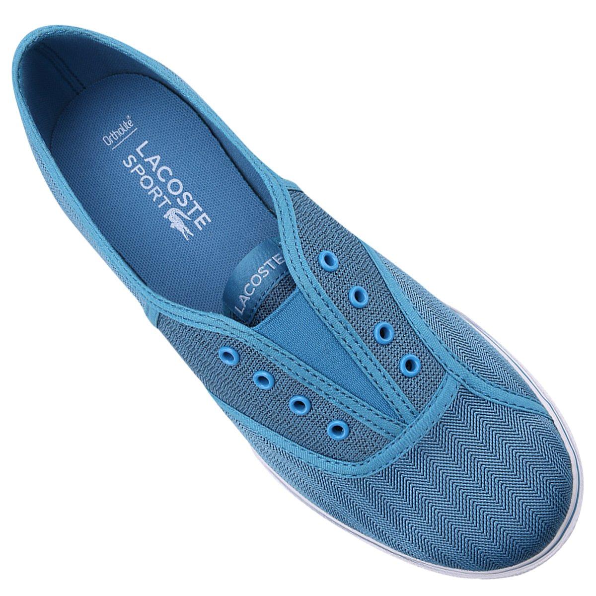 Tênis Lacoste Rene Sleek Slip Hpc - Azul Piscina e Branco - Compre ... a18b003dc8