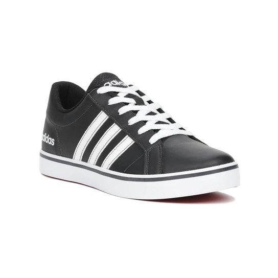 Tênis Masculino Adidas - Preto+Branco