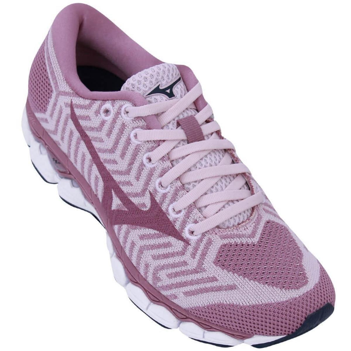 Menor preço em Tênis Mizuno Wave Knit S1 Feminino - Rosa