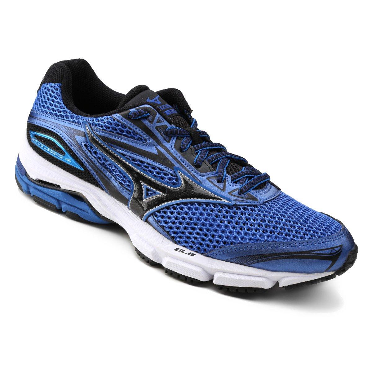 Tênis Mizuno Wave Legend 4 P Masculino - Azul e Preto - Compre Agora ... 9662628697ca5
