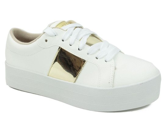 Tênis Moleca Flatform - Branco