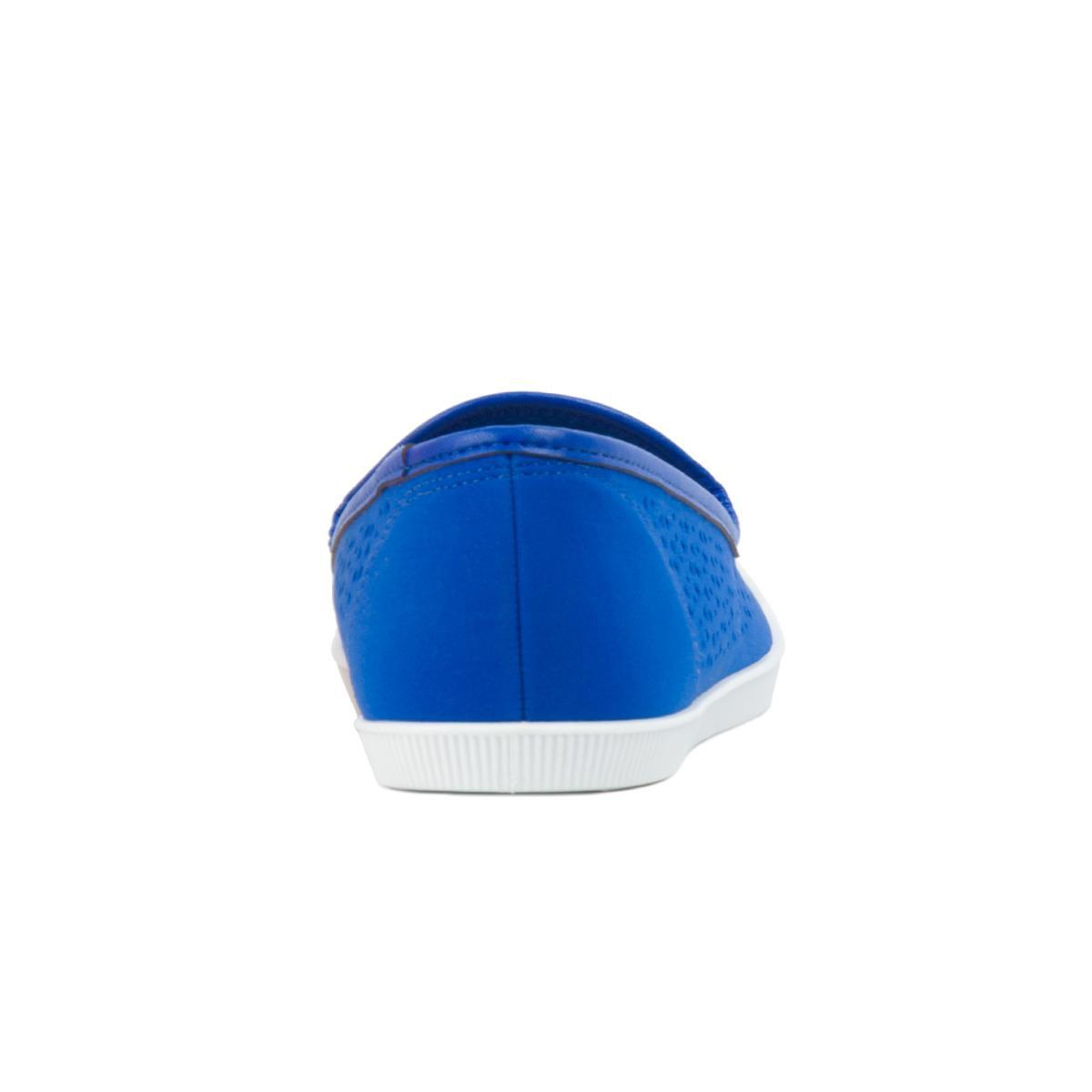 Azul Tênis Slipper Vazado Moleca Tênis Moleca qZrwXfvpZ