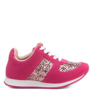Tênis Molekinha Jogging Glitter Infantil