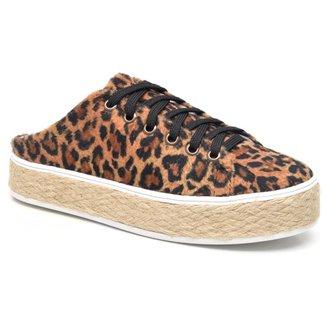Tênis Mule JL Shoes Flatform Onça Feminino
