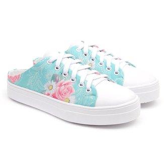 Tênis Mule JL Shoes Leve Floral Feminino