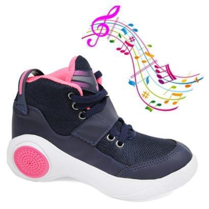Tenis Musical Infantil Botinho Toca Musica Por Bluetooth Feminino