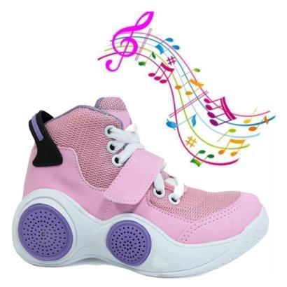 Tênis Musical Infantil Toca Musica Por Bluetooth Feminino