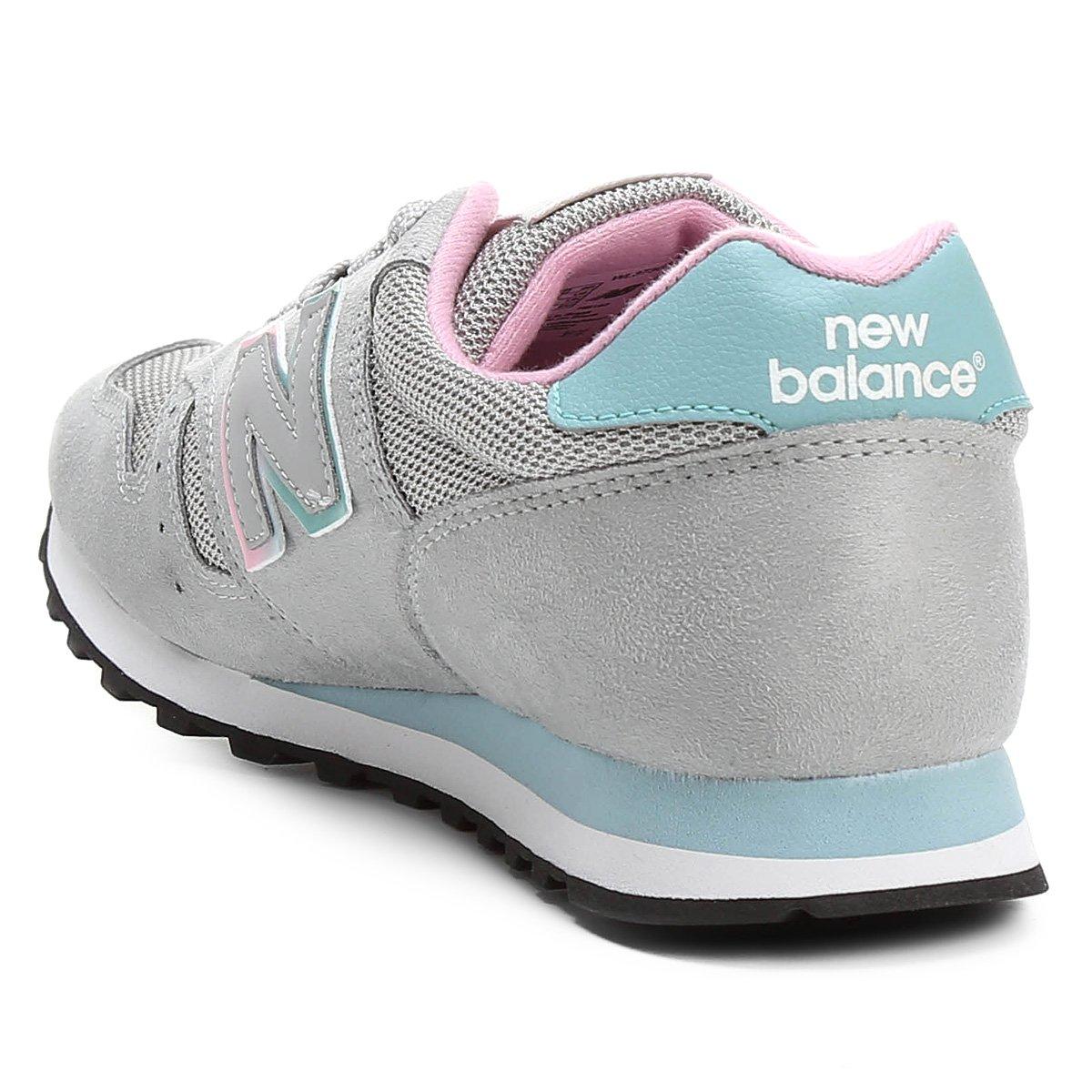 new balance 574 cinza e rosa