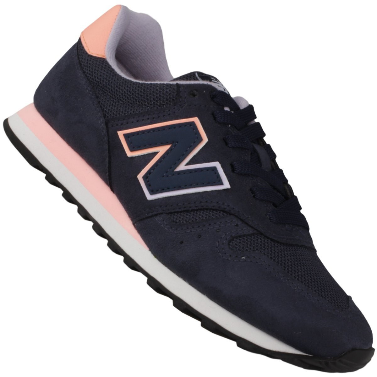 tenis new balance 373 feminino azul com rosa