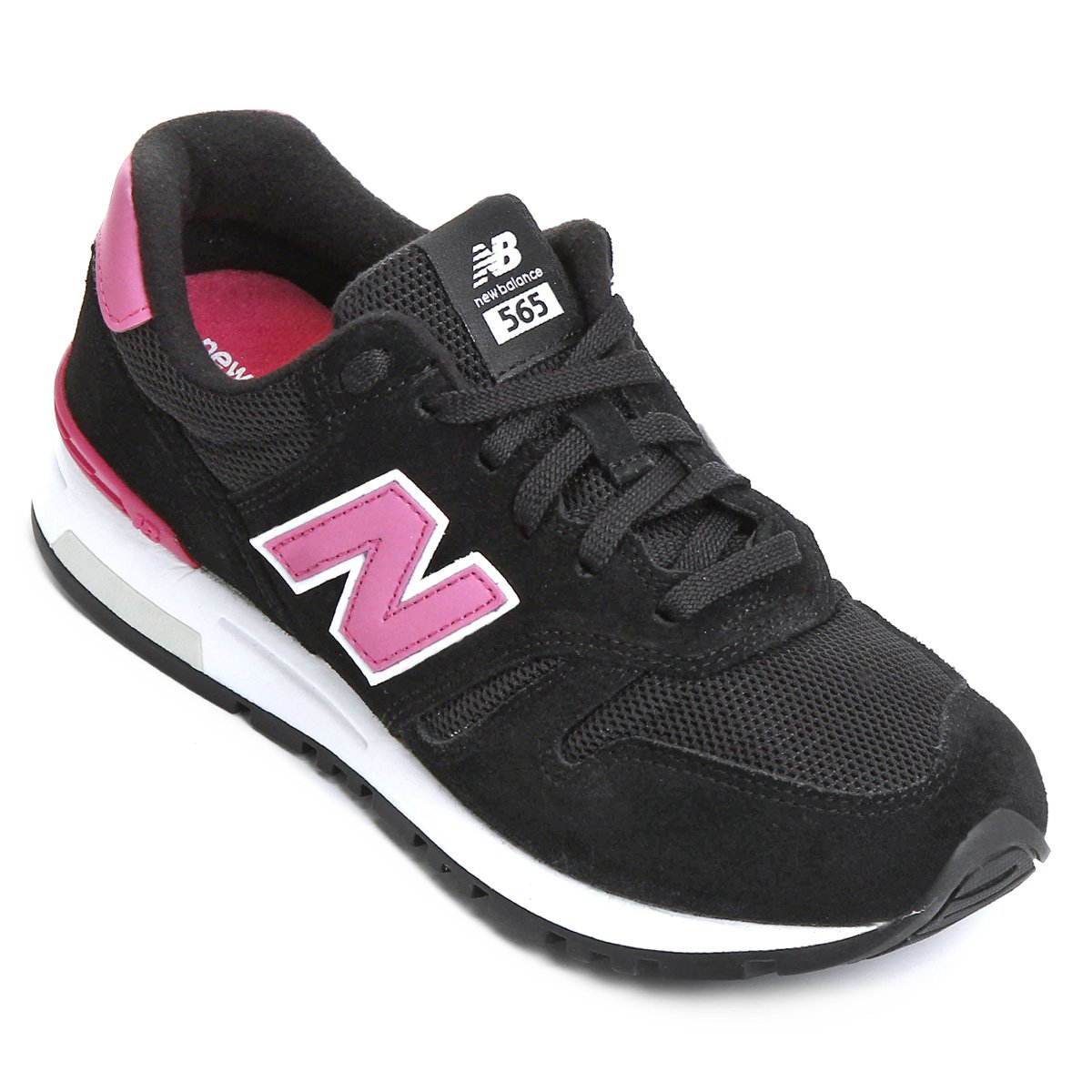 tenis new balance feminino preto e rosa