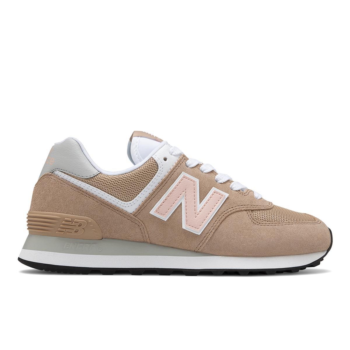 size 40 1d5d7 60123 Tênis New Balance 574 Casual Feminino - Bege