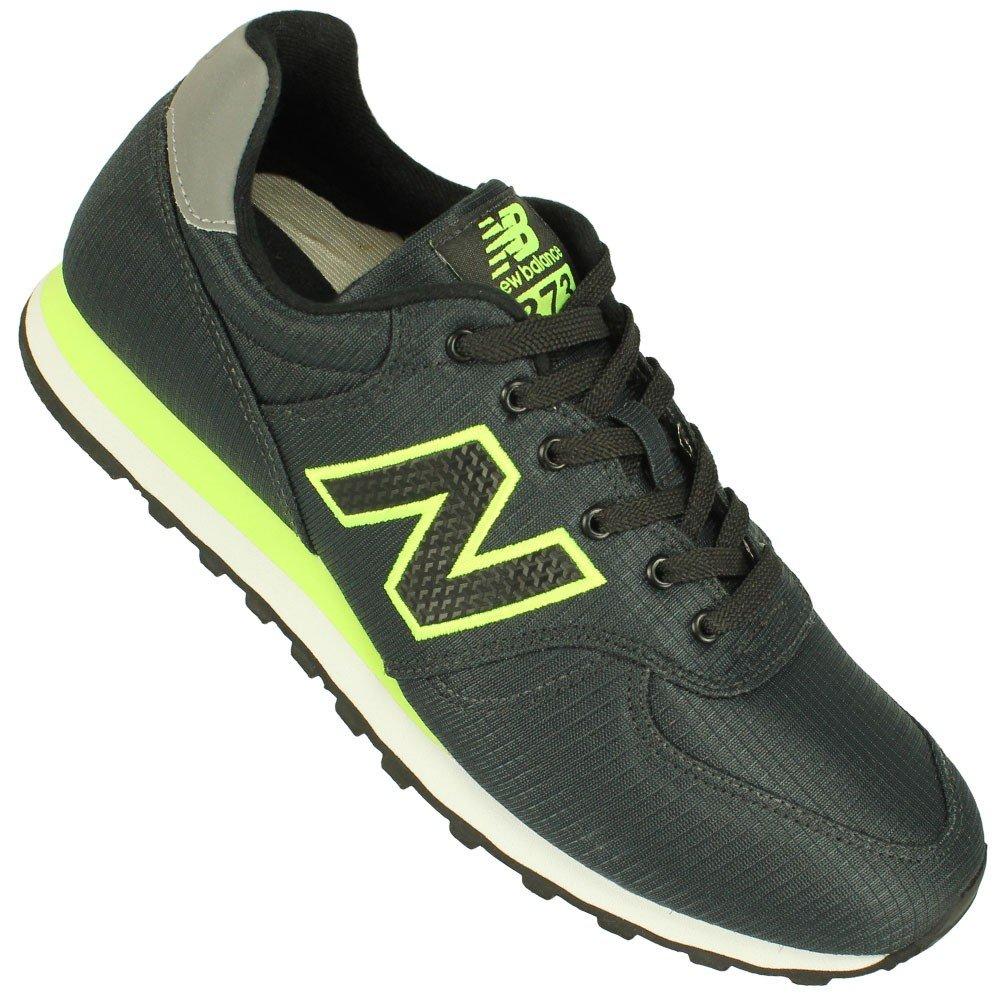 new balance preto com verde