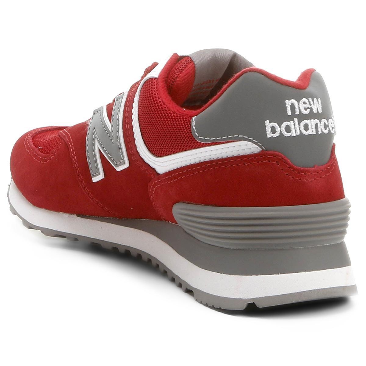 tenis new balance vermelho feminino
