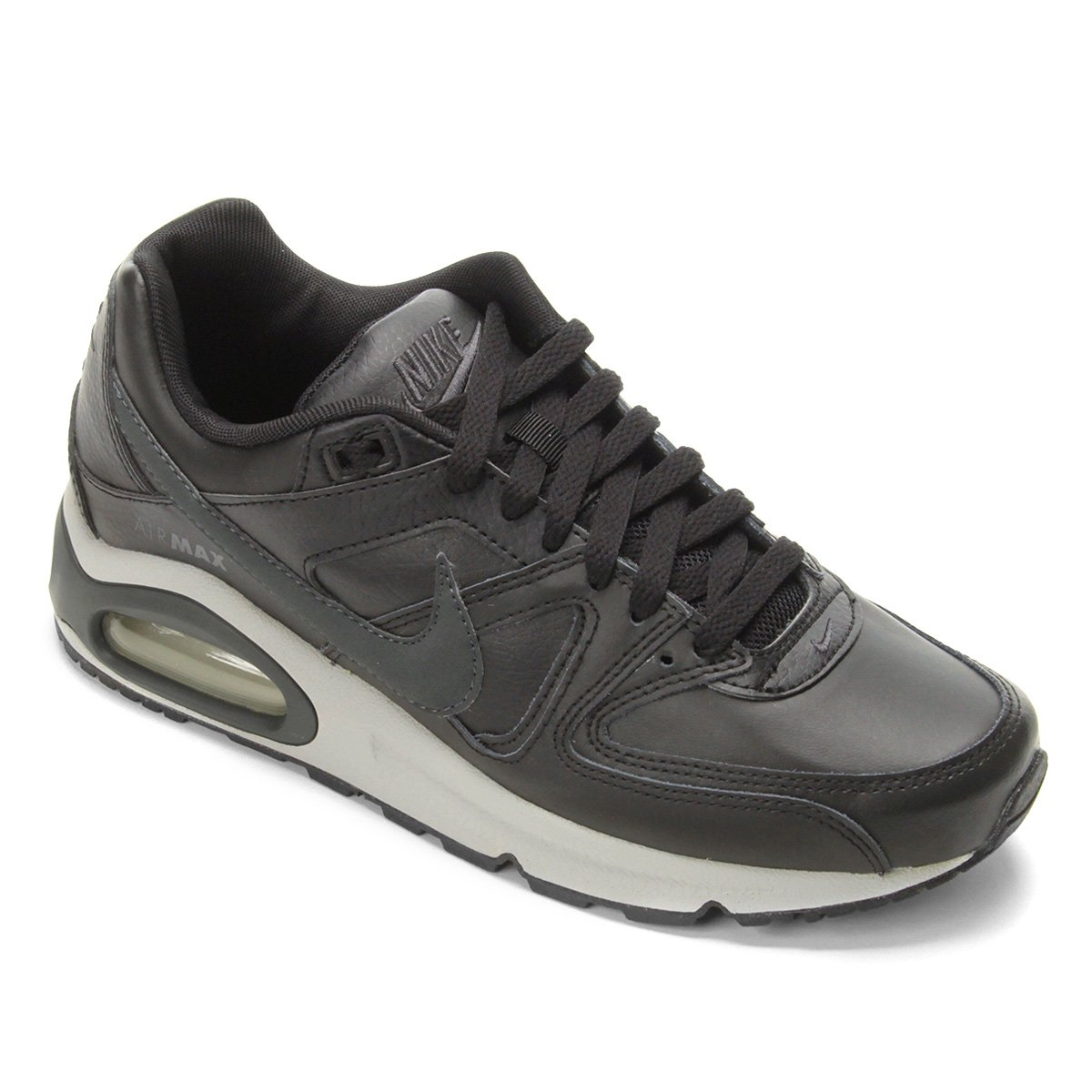 8e02936797 Tênis Nike Air Max Command Leather Masculino - Preto e Cinza   Zattini