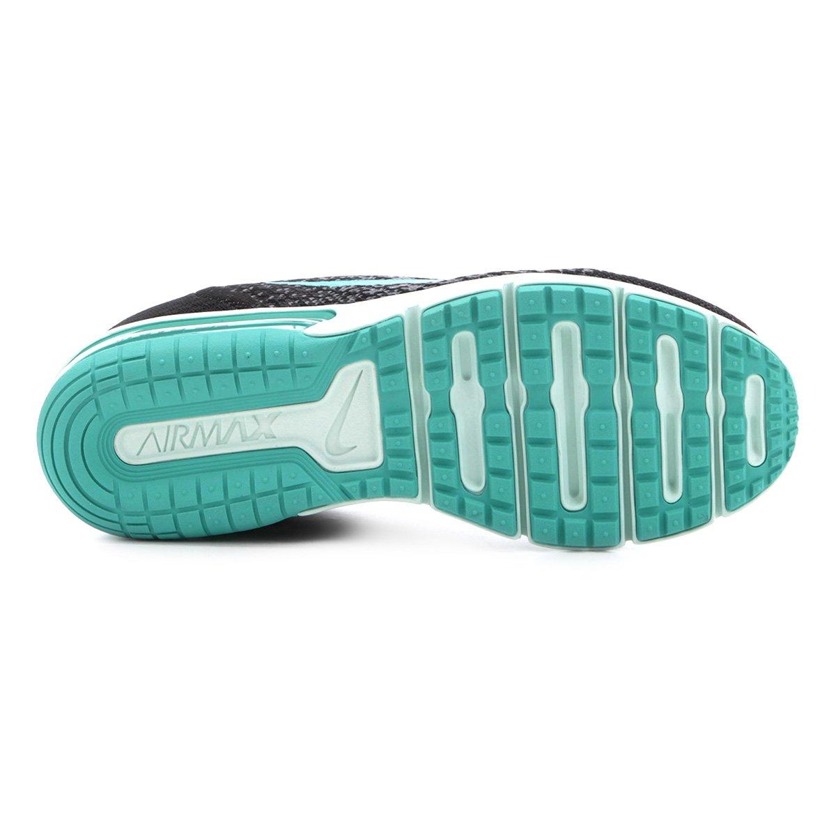 cabcff086c Tênis Nike Air Max Sequent 2 Feminino - Preto e Verde Água - Compre ...