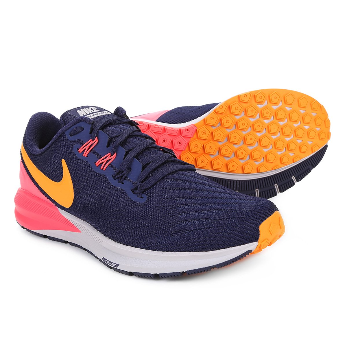 Tênis Nike Air Zoom Structure 22 Feminino Azul E Rosa