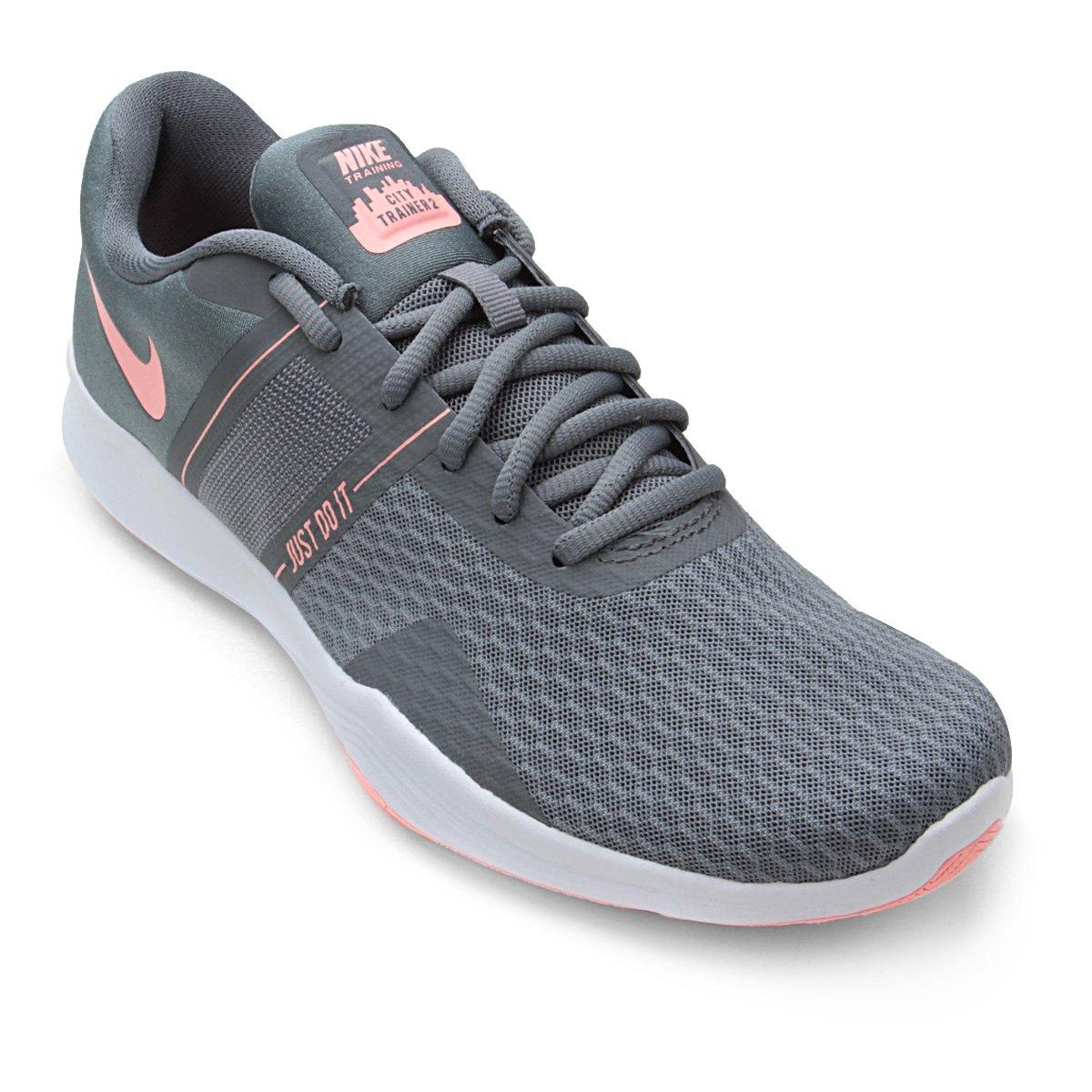 Tênis Nike City Trainer 2 Feminino Cinza E Rosa