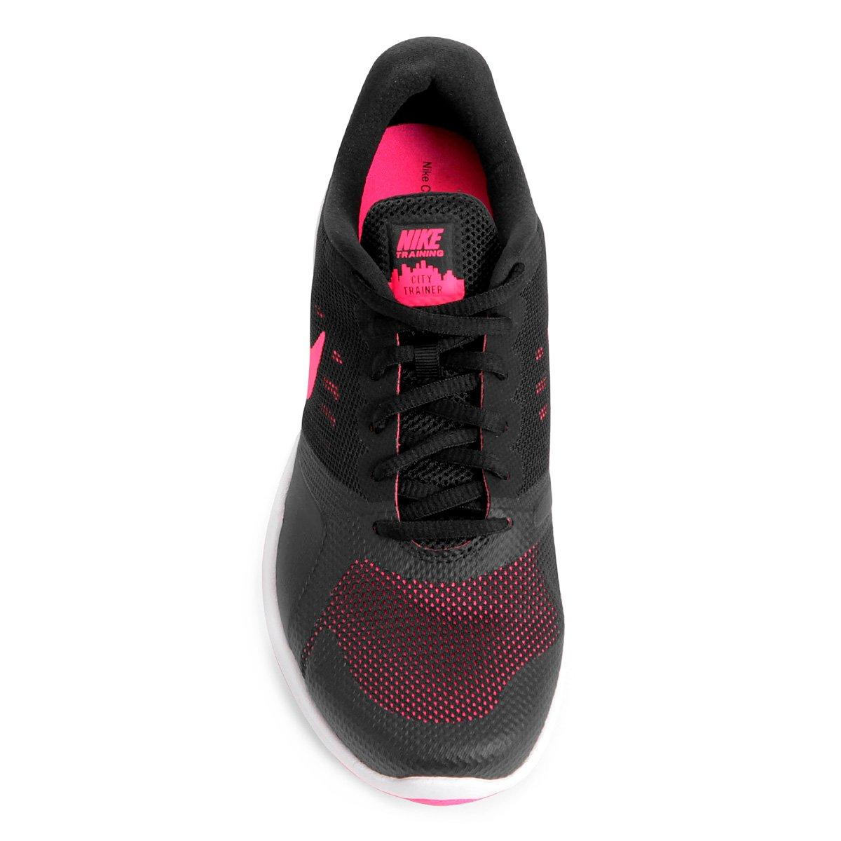 Tênis Nike City Trainer Feminino - Preto e Rosa - Compre Agora  3e2acbb9f5641
