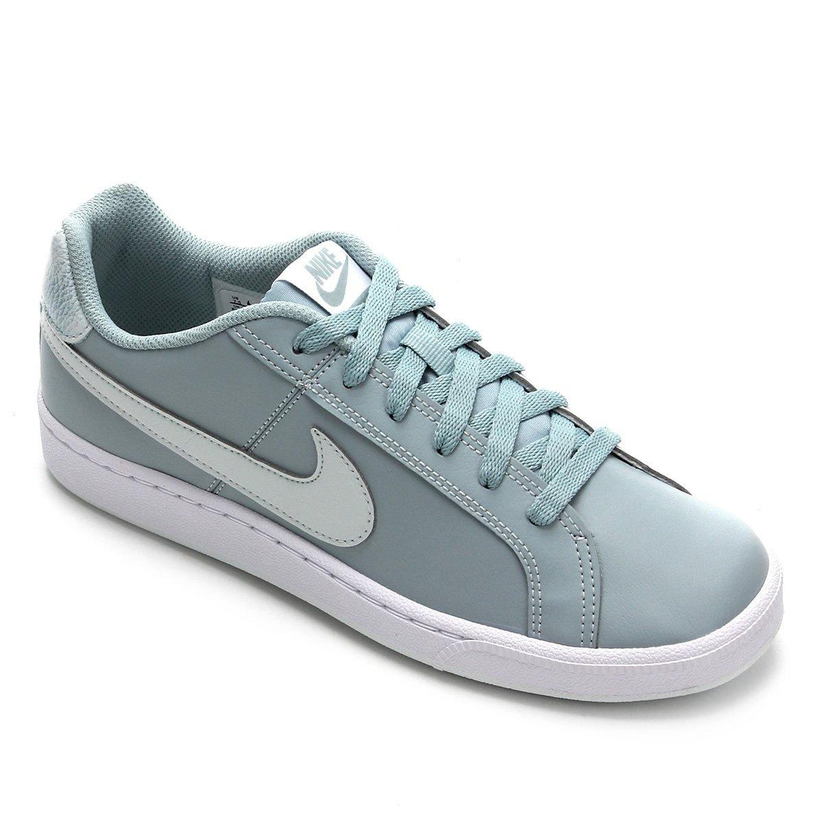 reputación confiable tienda oficial sombras de Tênis Nike Court Royale Couro Feminino - Azul e Branco | Zattini
