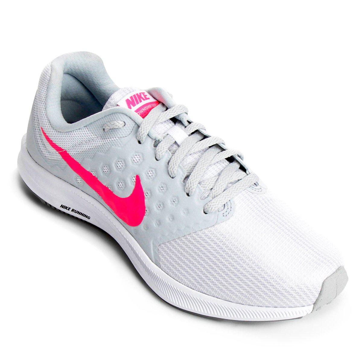 Tênis Nike Downshifter 7 Feminino - Branco e Rosa - Compre Agora ... e288a410c465a