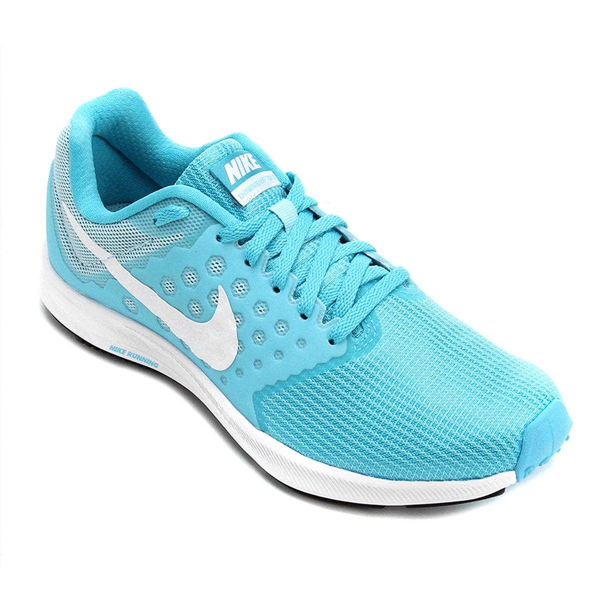 Tênis Nike Downshifter 7 Feminino Azul E Branco