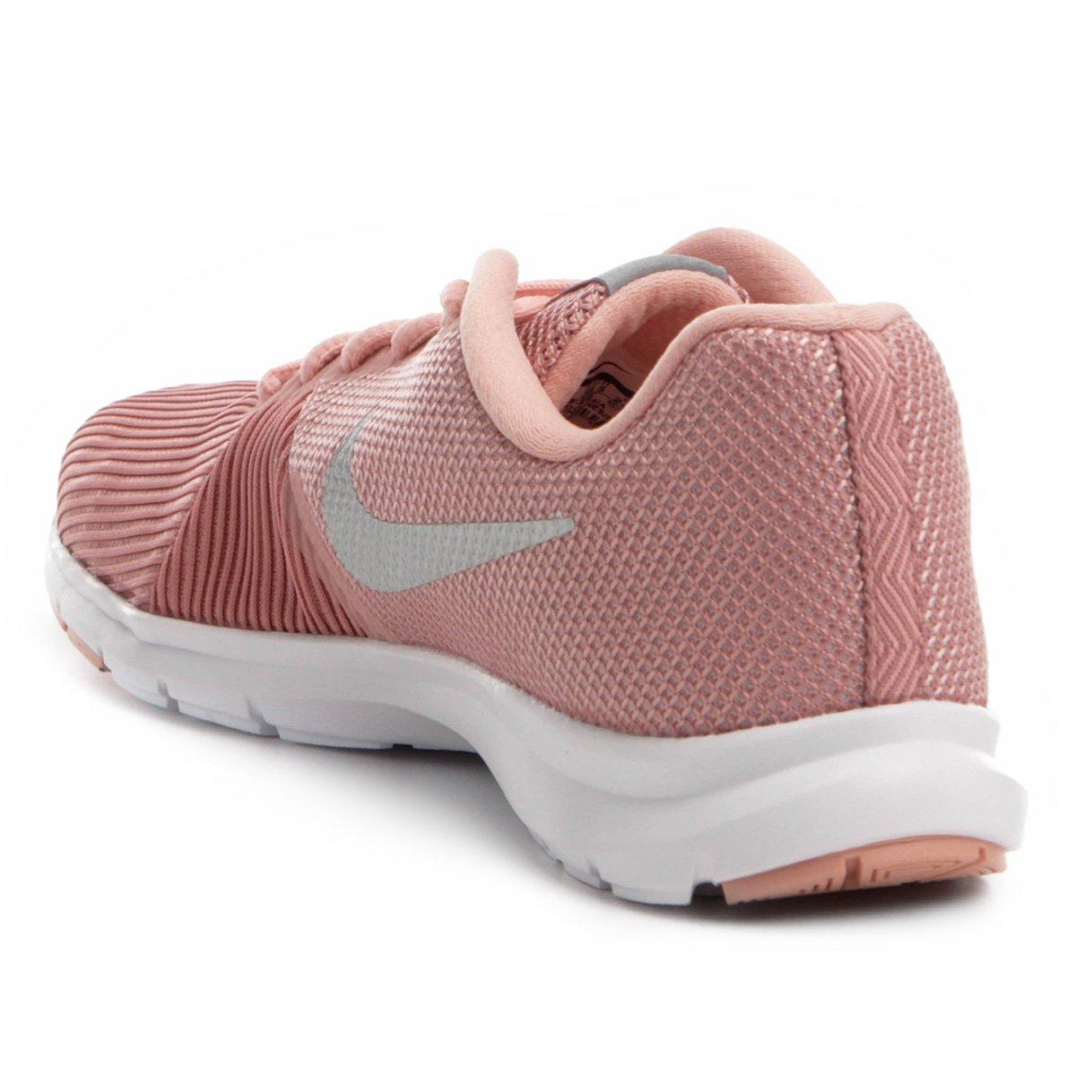 Tênis Nike Flex Bijoux Feminino - Rosa e prata - Compre Agora  b1364387ba7b2