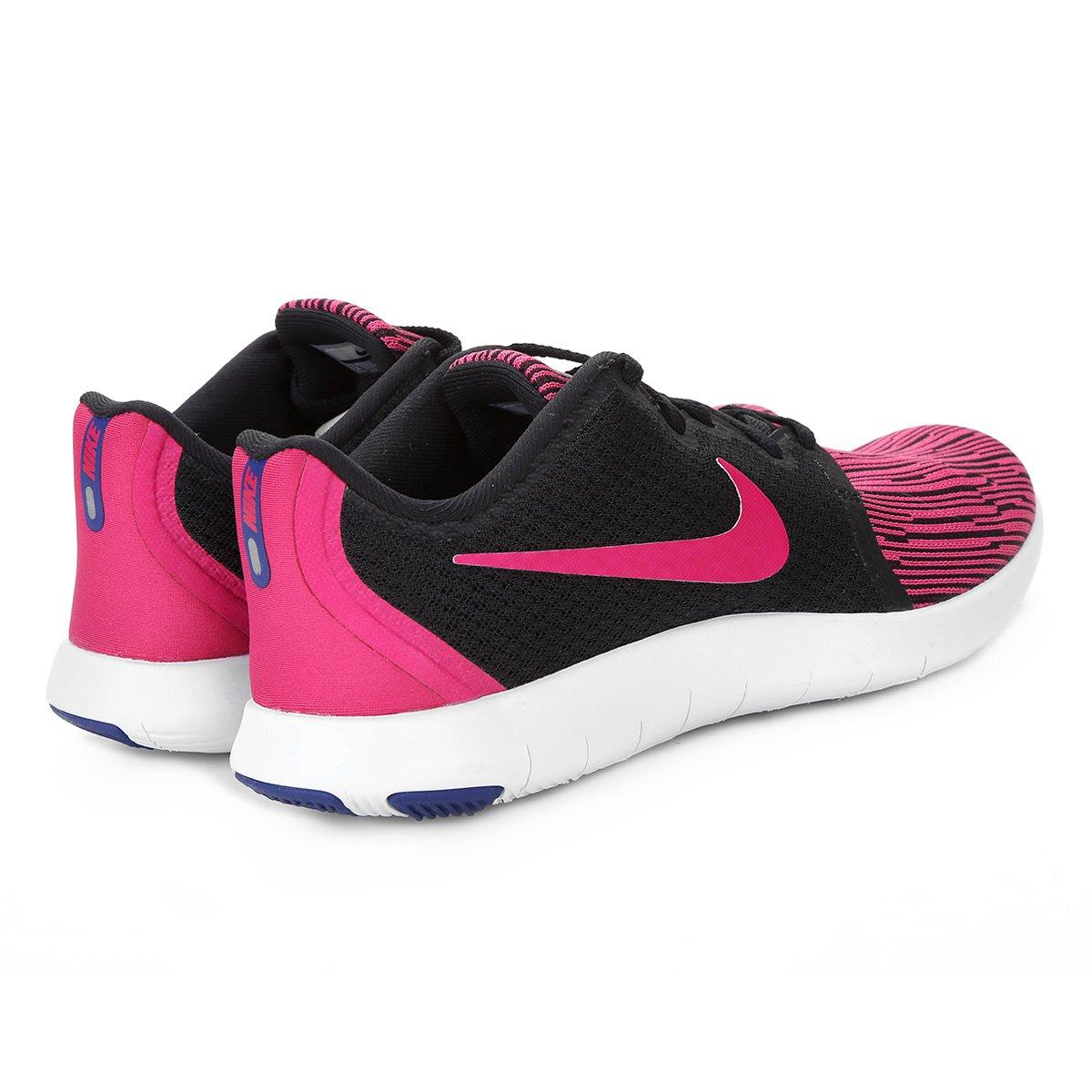 5409d748d3 Tênis Nike Flex Contact 2 Feminino - Preto e Rosa - Compre Agora ...