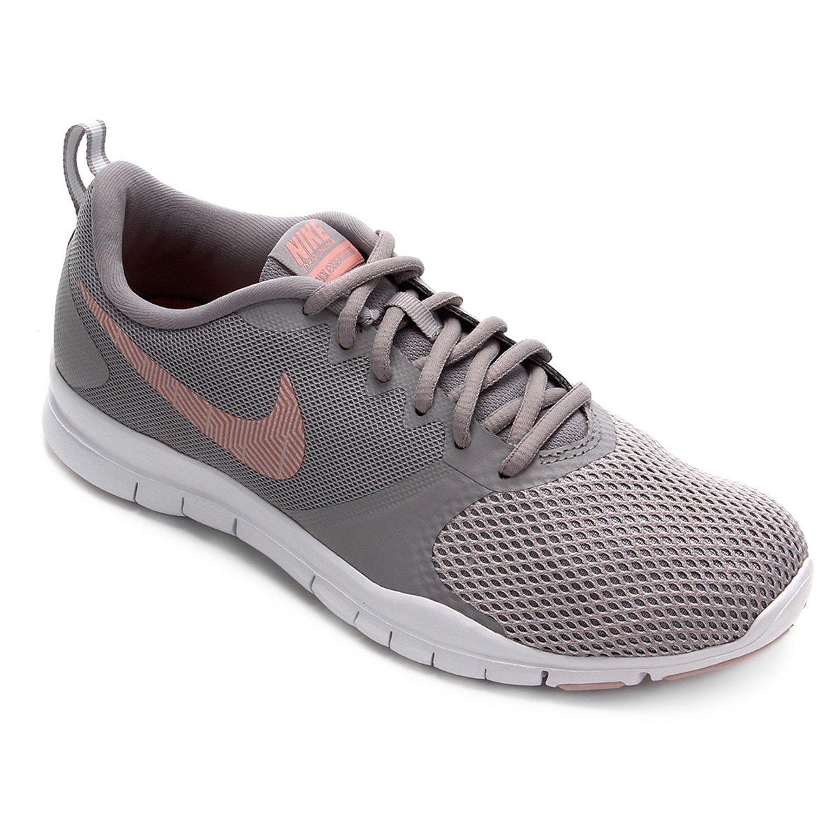 Tênis Nike Flex Essential Tr Feminino Rosa E Cinza