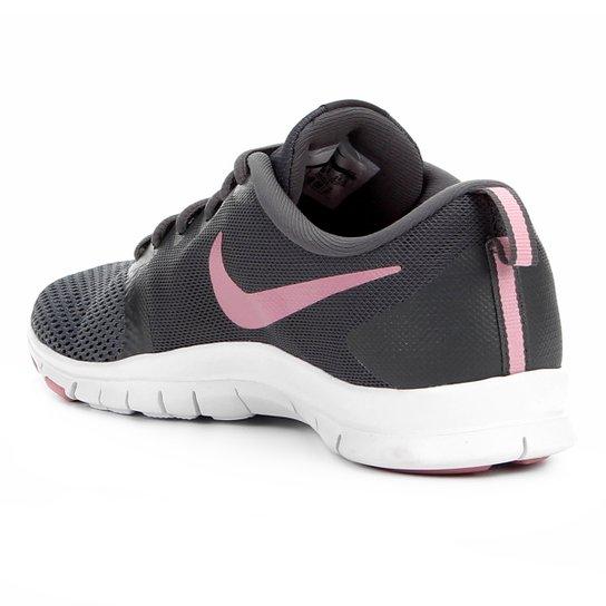 Tênis Nike Flex Essential Tr Feminino Cinza E Rosa
