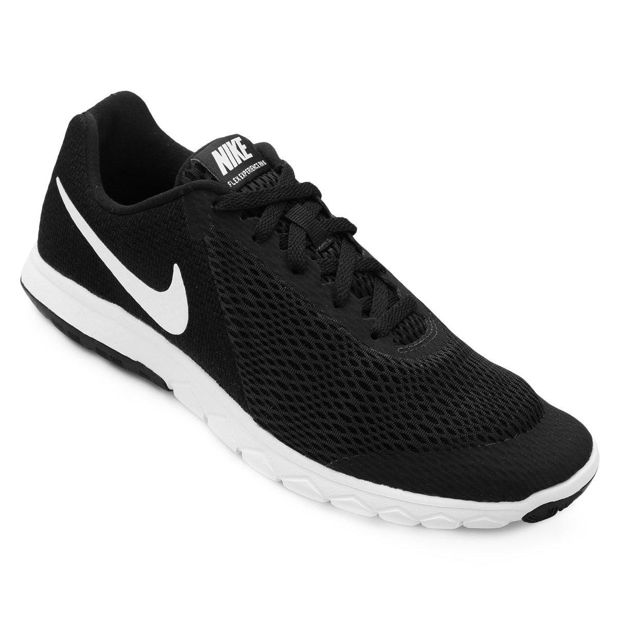 Tênis Nike Flex Experience Rn 6 Feminino - Preto e Branco - Compre ... 32555cddb07c6