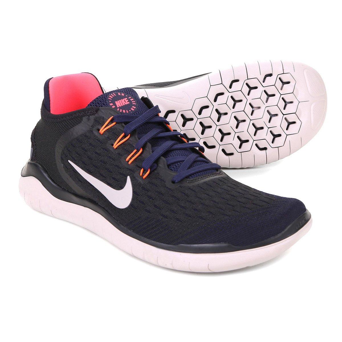16109a4b78 Tênis Nike Free Rn 2018 Masculino - Preto e Azul - Compre Agora ...