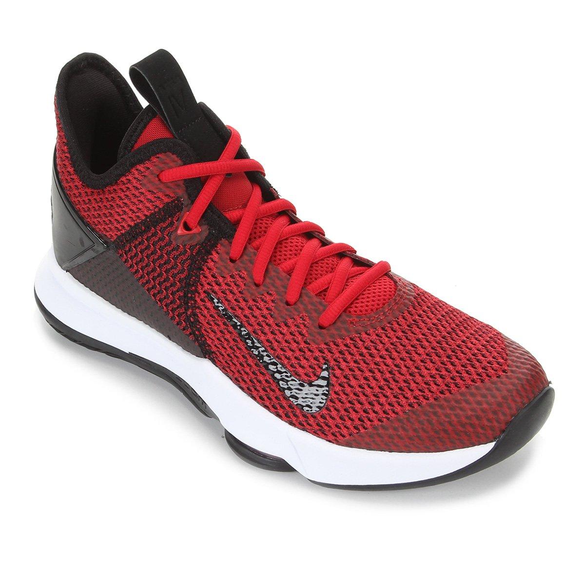 Tênis Nike Lebron Witness IV Masculino - Preto e Vermelho