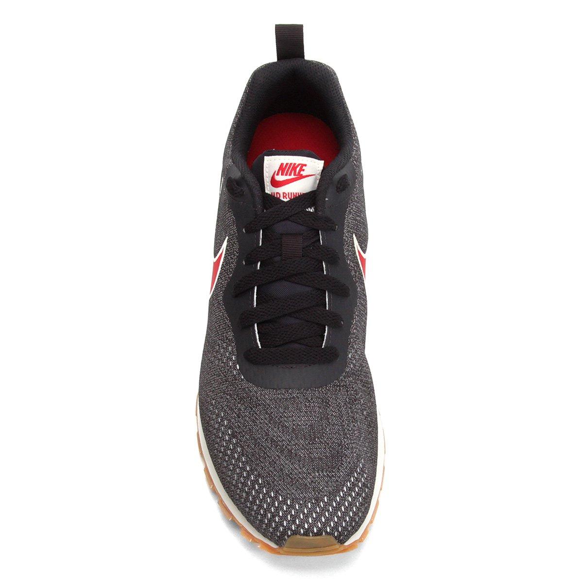 Tênis Nike Md Runner 2 Eng Mesh Masculino Preto e Vermelho
