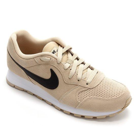 labio Instalación Mordrin  Tênis Nike Md Runner 2 Suede Masculino - Dourado e Preto | Zattini