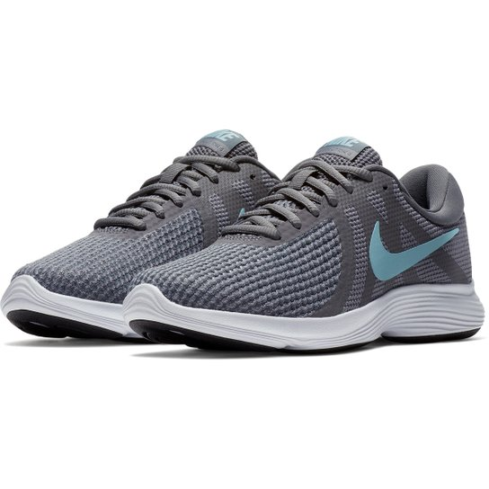 Tênis Nike Revolution 4 Feminino Cinza E Azul