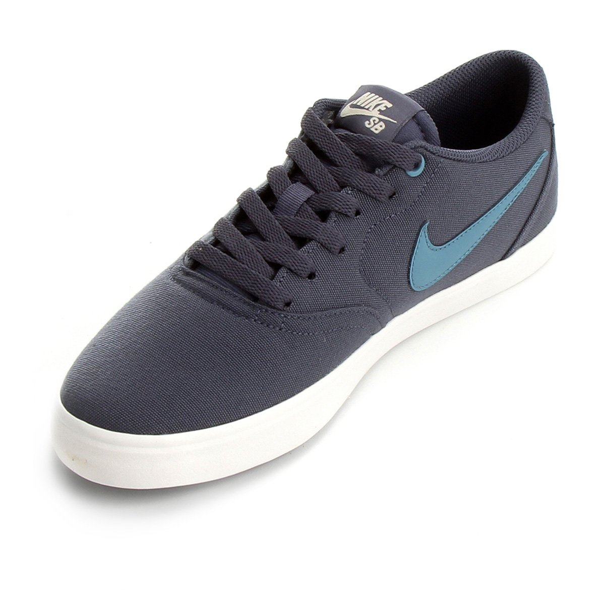 ... Tênis Nike Sb Check Solar Cnvs Masculino - Branco e Azul - Compre . 790c094b0470f