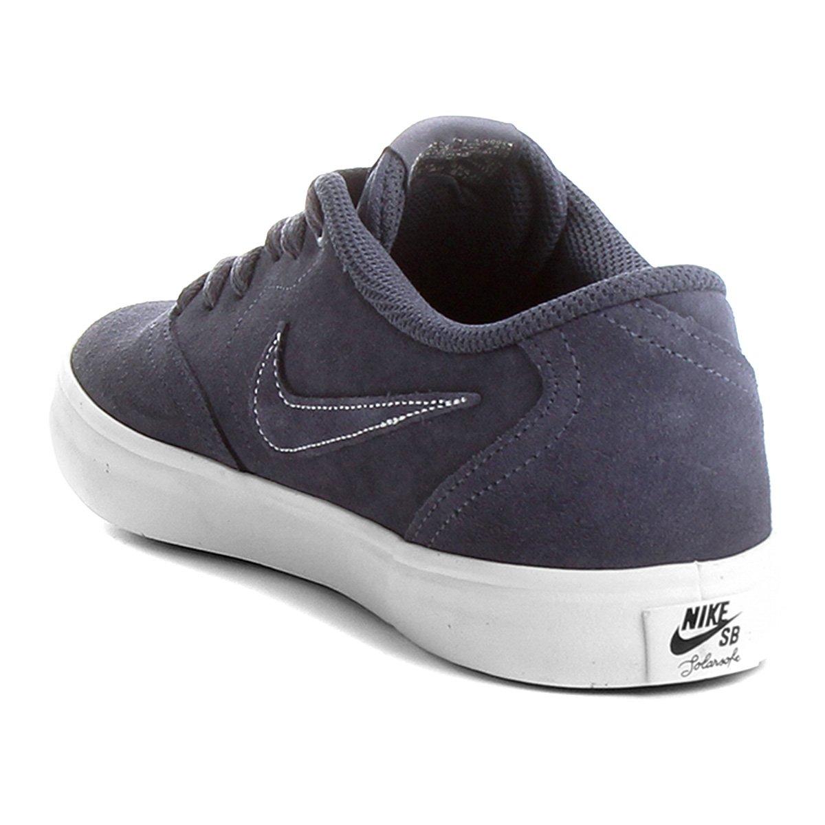 Tênis Nike Sb Check Solar Masculino - Branco e Azul - Compre Agora ... d5796e25870d0
