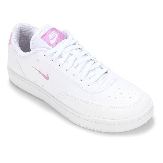 Tênis Nike Wmns Court Vintage Feminino - Branco+Rosa