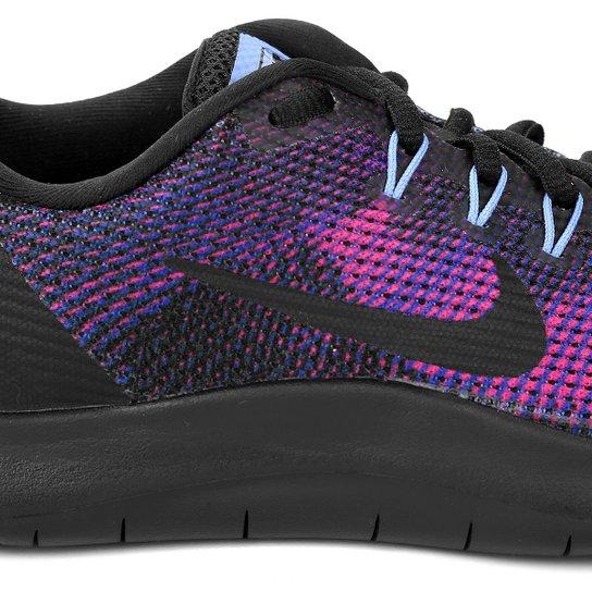 Tênis Nike Wmns Flex 2018 Rn Feminino Preto E Azul