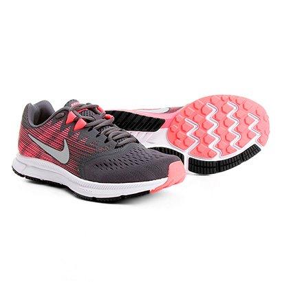78ad7202e00 Tênis Nike Zoom Span 2 Feminino - Chumbo e Rosa - Compre Agora