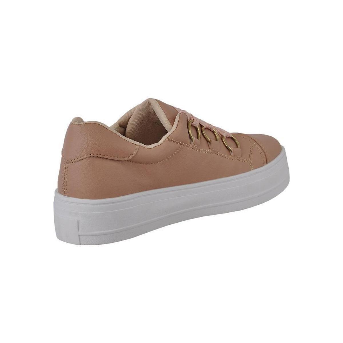 Tênis Novo Hábito Sneaker Flatform Feminino - Salmão fXkyo